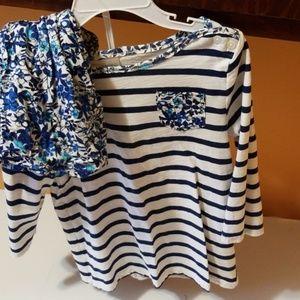 Shirt & skirt outfit